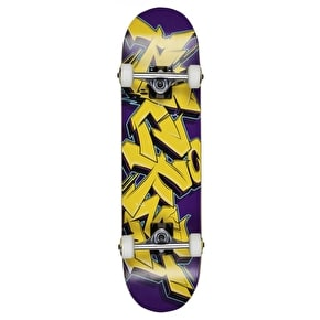 Rocket Mini Skateboard - Graffiti Series Yellow/Purple 7.5