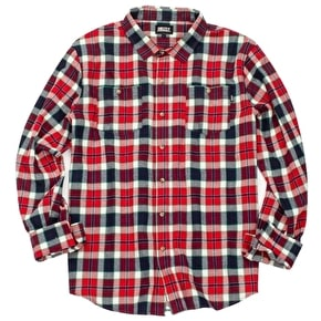 Grizzly Outfield Woven Longsleeve Shirt - Red