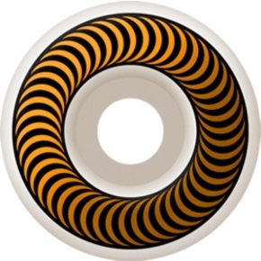 Spitfire Classic Skateboard Wheels - White/Orange 53mm