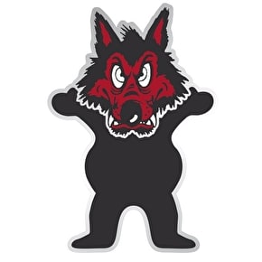 Grizzly Wolfpack Bear Skateboard Sticker