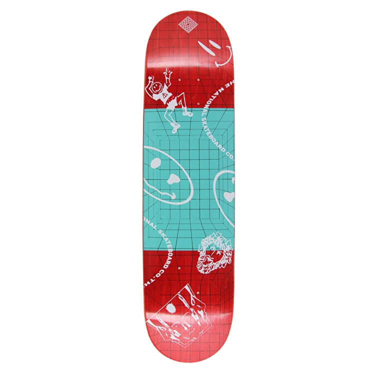 National Skateboard Co Dream Skateboard Deck - Red Stain - 8.0""