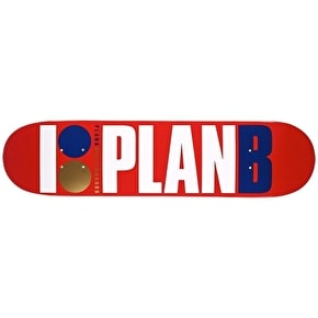 Plan B Team OG Skateboard Deck - Red/Navy 7.5