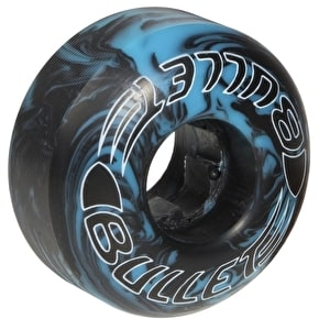Bullet Skateboard Wheels - Swirl Rounds Black/Blue 52mm