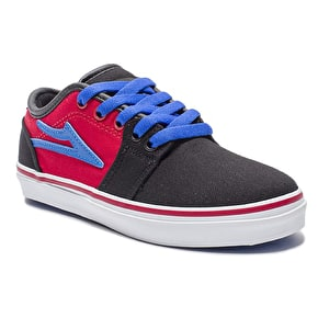 Lakai Kids Judo Shoes - Black/Red Canvas