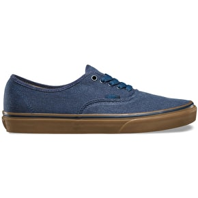 Vans Authentic Shoes (Washed Canvas) Dress Blues/Gum