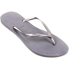 Havaianas Slim Womens Flip Flops - Steel Grey