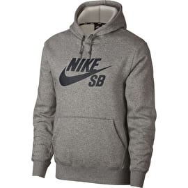 Nike SB Icon Hoodie - Dark Grey Heather/Black