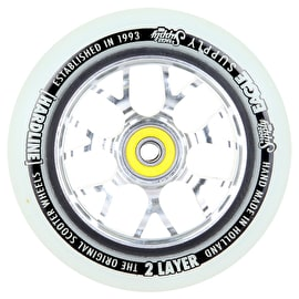 Eagle 115mm Hardline 2-Layer X6 Scooter Snowball Wheel - Silver