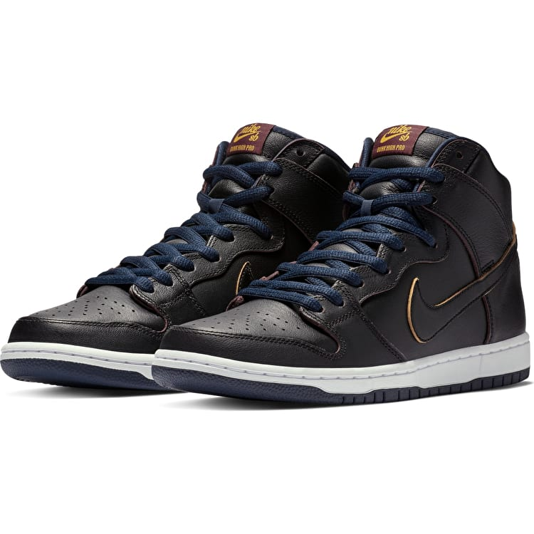 Nike SB Dunk High Pro NBA (Cleveland Cavaliers) Skate Shoes - Black/Black-College Navy-Team Red