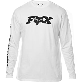 Fox Race Team Long Sleeve T Shirt - Optic White