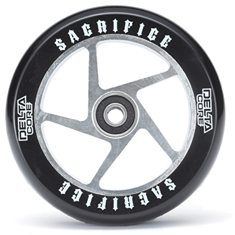 Sacrifice Delta Core 110mm Scooter Wheel w/Bearings - Black/Polished SECONDS