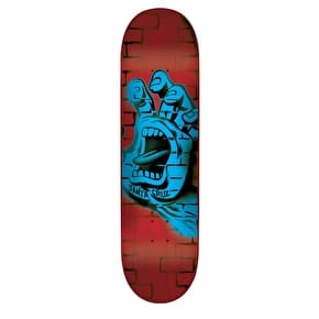 Santa Cruz Spray Hand Hard Rock Maple Skateboard Deck - Red/Blue 8.375