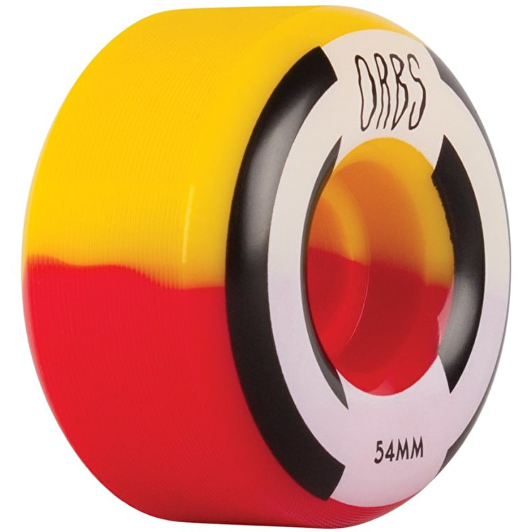 Welcome Apparitions - Round - Splits Skateboard Wheels 54mm - Red/Yellow