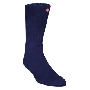 Diamond Brilliance High Top Socks - Heather/Navy