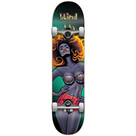 Blind Blacklight Girl First Push Complete Skateboard - Black 7.5