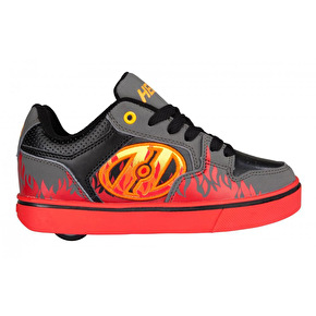 Heelys Motion Plus - Grey/Black/Flames