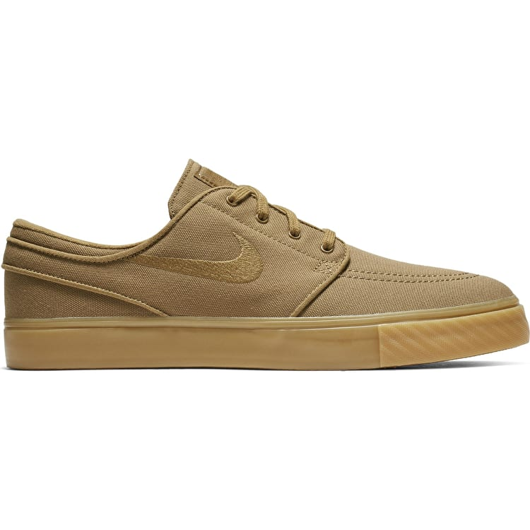 Nike SB Zoom Stefan Janoski Canvas Skate Shoes - Golden Beige Gum