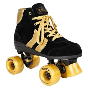 B-Stock Rookie Authentic V2 Quad Roller Skates - Black/Gold UK 6 (slight marks on wheels)