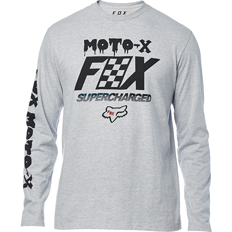 Fox Charged Long Sleeve T Shirt - Light Heather Grey