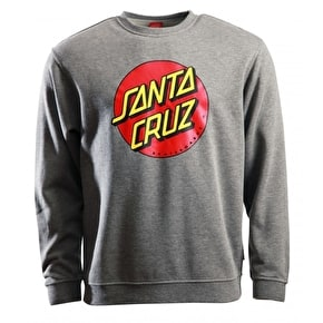 Santa Cruz Classic Dot Crewneck - Dark Heather