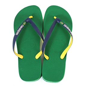 Havaianas Brazil Mix Flip-Flops - Green/Navy Blue