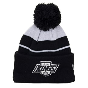 New Era Striped Team Beanie - Los Angeles Kings