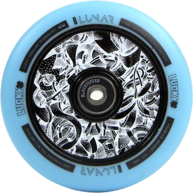 Lucky Lunar 110mm Scooter Wheel - Axis Black/Teal