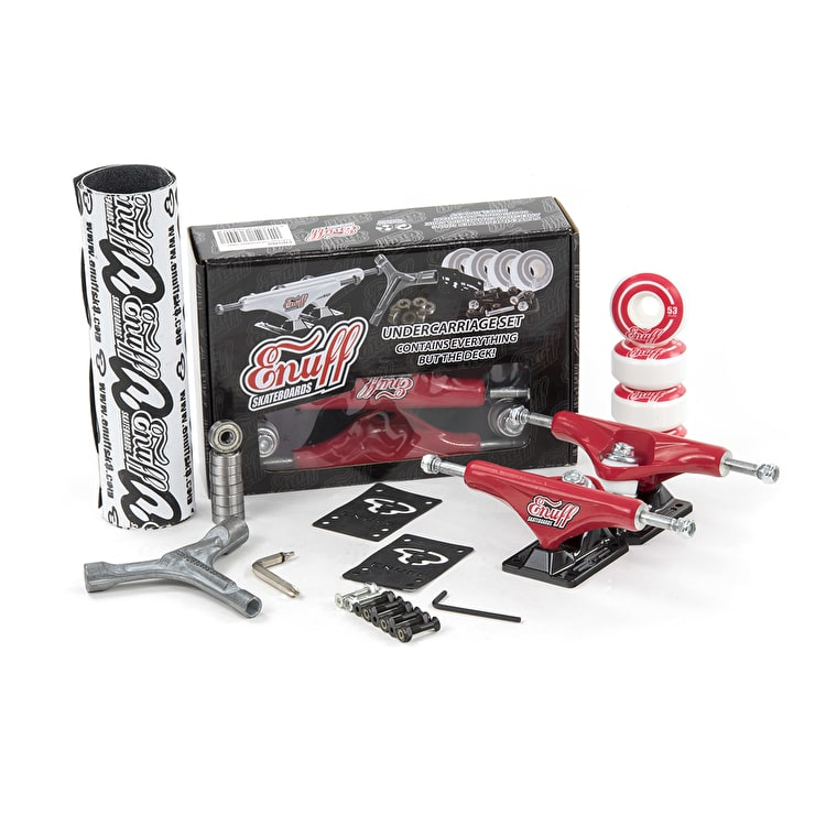 Enuff Decade Pro Skateboard Undercarriage Set - Red/Black