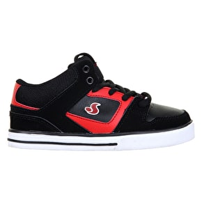 DVS Everett Mid Kids Skate Shoes - Black/Red