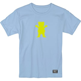 Grizzly OG Bear T Shirt - Baby Blue/Neon Yellow