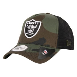 New Era Camo Team Trucker Oakland Raiders Cap - Woodland Camo