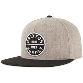Brixton Oath III Snapback - Heather Grey/Black