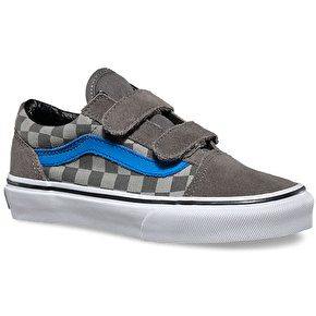 Vans Old Skool V Kids Shoes - Checkerboard Pewter