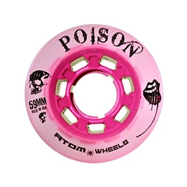 Atom Quad Derby Poison Slim 59mm Wheels 84a (4pk) - Pink