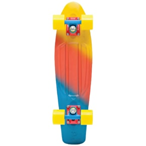 Penny Fades Complete Skateboard - Yellow/Red/Blue 22