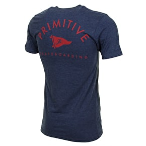 Primitive Arch Pennant Lightweight T-Shirt - Navy Heather