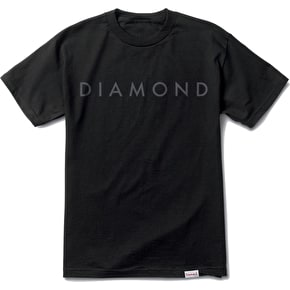 Diamond Facet Tonal T-Shirt - Black