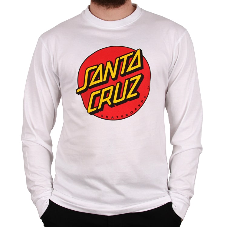 Santa Cruz Classic Dot Long Sleeve T Shirt - White