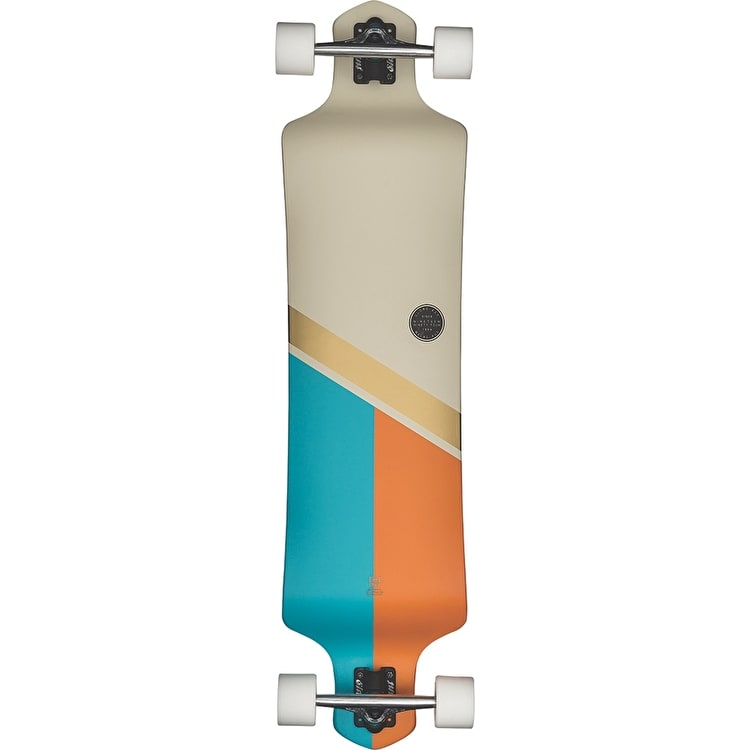 "Globe Geminon Drop-Down 41"" Complete Longboard - Off-White/Gold"