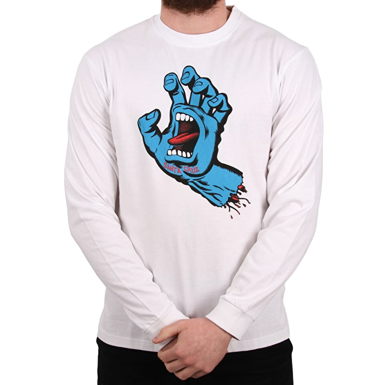 Santa Cruz Screaming Hand Longsleeve T-Shirt - White