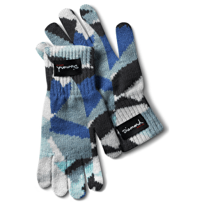 Diamond Simplicity Touchscreen Gloves - Blue