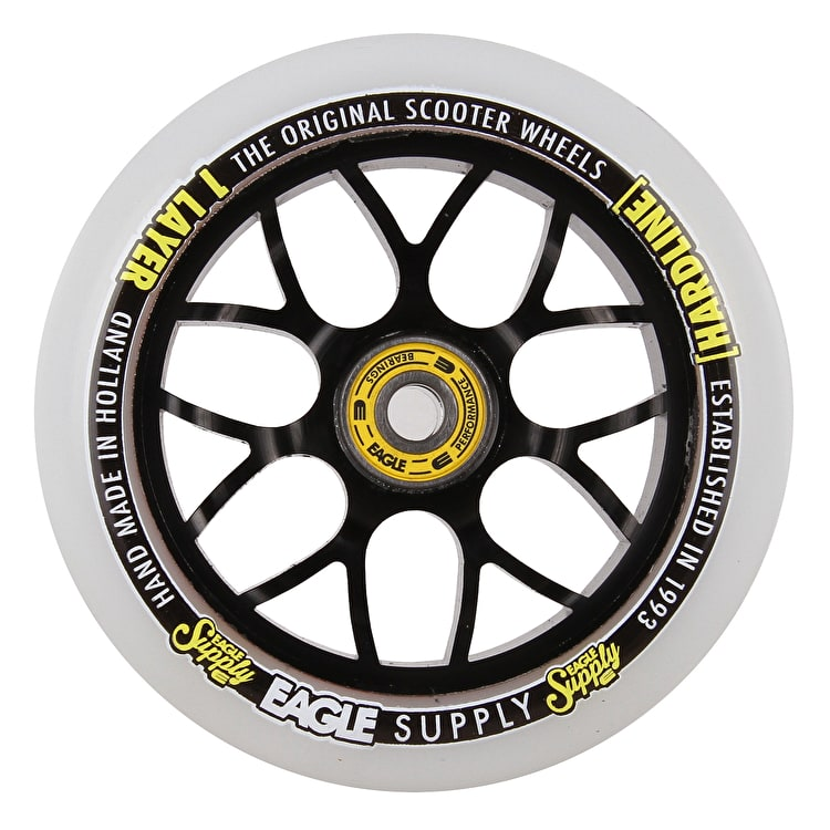Eagle Sport Hardline 1-Layer X6 Snowballs Scooter Wheel - White/Black 110mm