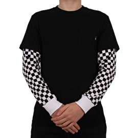 Vans Checker Sleeve Two Fer T-Shirt - Black/Checker