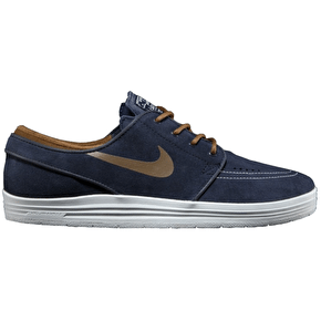 Nike SB Lunar Stefan Janoski Shoes - Obsidan/Umber Summit White