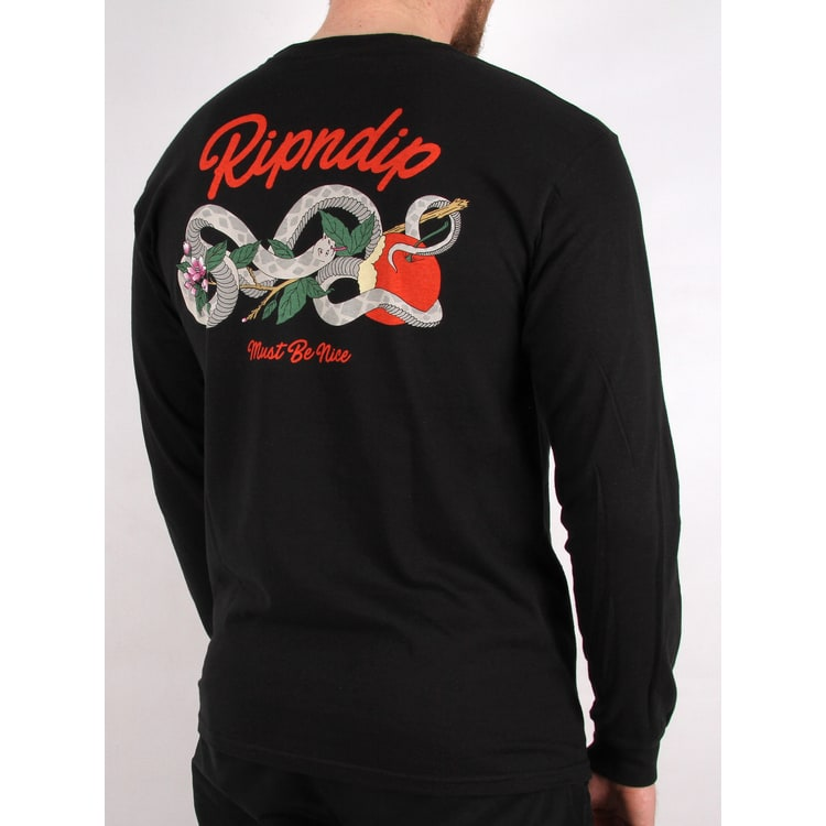 RIPNDIP Serpent Long Sleeve T shirt - Black
