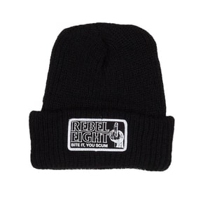 Rebel8 Bite It Beanie - Black