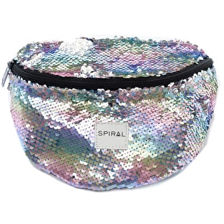 Spiral Harvard Bum Bag - Rainbow Sequins