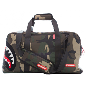 Sprayground Woodland Shark Camo Duffle Bag