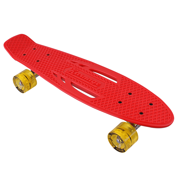 "Karnage Retro Solid 23"" Complete Skateboard - Red/Yellow"