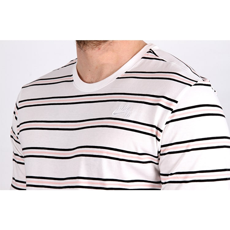 Nike SB Summer Stripe T shirt - White/White